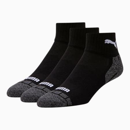 3-Pack PUMA Men's Quarter Crew Cat Socks